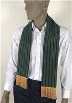 Green Mini-Kente Scarf
